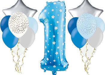 Zestaw dekoracji z balonów na pierwsze urodziny roczek