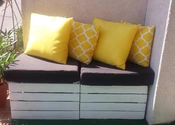 Poduszka 40x40cm żółta koniczyna marokańska, gładka żółta 10