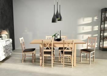Zestaw,Stół 80/140/180 + 6 Krzeseł - Tanio!