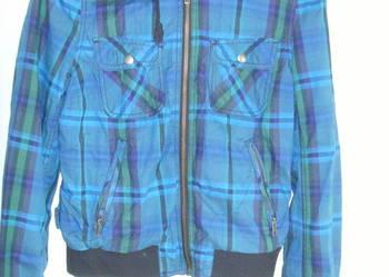 Krótka kurtka w kratkę H&M rozmiar 38