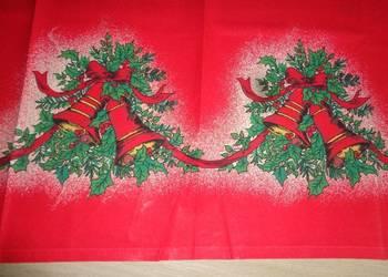 obrus świąteczny z dzwonkami