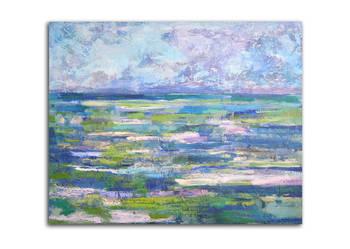 Nowoczesny obraz olejny na płotnie, morze obraz oryginał