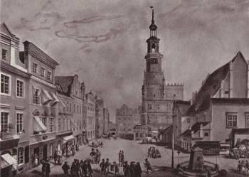 WIELKOPOLSKA, POZNAŃ  reprint XIX w.    grafk do wystroju