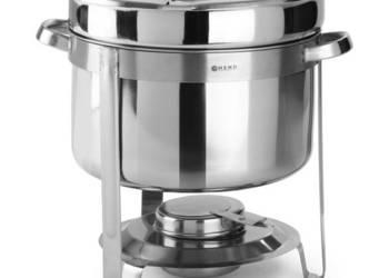 Najnowsze Podgrzewacz stołowy do zupy na pastę + pojemnik 10L Hendi TS11
