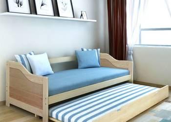 vidaXL Wysuwane łóżko sosnowe/sofa 200x90 cm Natural(242954)