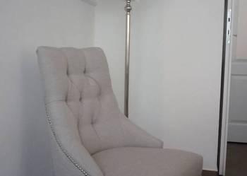 Krzesło tapicerowane z pinezkami ćwiekami tapicerowane nowe