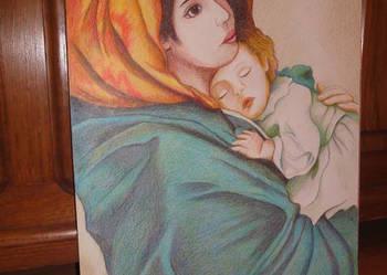 Obraz rysunek Maryja Matka Boża Cygańska