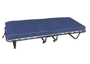 Łóżko składane dostawka na kółkach COMO z grubym materacem