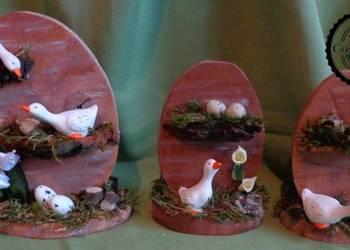 Jajo wielkanocne, ozdoba świąteczna, rękodzieło
