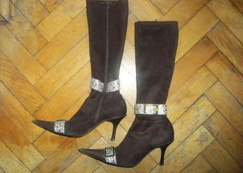 Buty kozaki firmy LUX rozm. 37 obcas 7 cm Eleganckie, mało używane