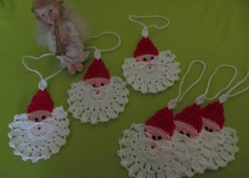 Mikołaje, mikołajki szydełkowe, gwiazdki
