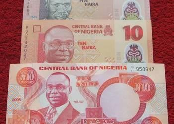 NIGERIA Kolekcjonerskie Banknoty Zestaw - 3 sztuk UNC