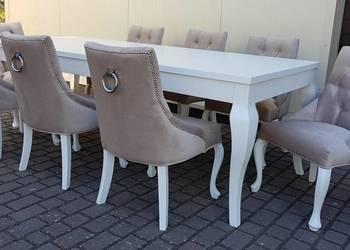 Hampton glamour krzesło do salonu pikowane z kołatką produce