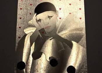 """Pocztówka laserowa / obrazek """"Pierrot"""""""