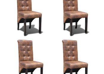 vidaXL Krzesła do jadalni ze skóry syntetycznej 270553