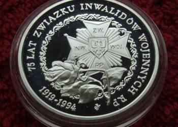 MONETA 200000 ZŁ ZWIĄZEK INWALIDÓW WOJENNYCH 1994 ROK SREBRO