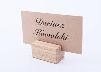 Winietki z drewnianą podstawką WD16