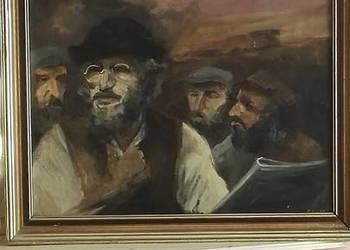 Żydzi - obraz olejny na płótnie. M. Piłat.