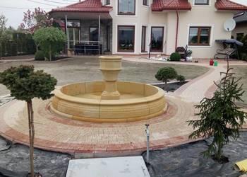Stylowa fontanna ogrodowa z piaskowca naturalny kamień