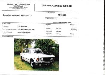 Fiat 125p - 1985 rok - żółte tablice - bardzo niski przebieg