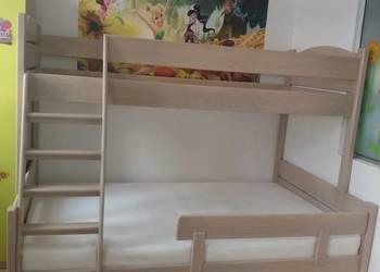 Drewniane Masywne łóżko Piętrowe 2 Lub 3osobowe Z Drewna Buk Sanok