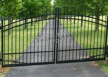 Brama dwuskrzydłowa rozwierna 400cm KOMPLET