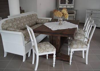 ***Komplet 5 krzeseł eklektycznych, białych *
