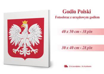 Urzędowe Godło Polski - Fotoobraz 40x50 lub 30x40 cm
