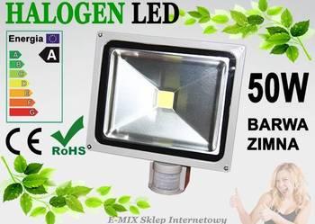 Halogen Lampa LED 50W z czujnikiem ruchu wodoodporny !!!