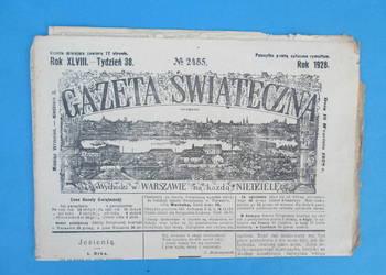 20. Gazeta Świąteczna Rok wydania 1928 - Bezpłatna wysyłka.
