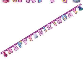 Nowe Banner, girland Trolle - Happy Birthday