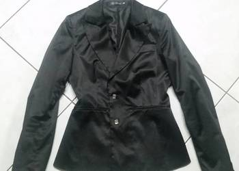 kostium, garnitur, marynarka, spodnie, atłas, żakiet, taliow