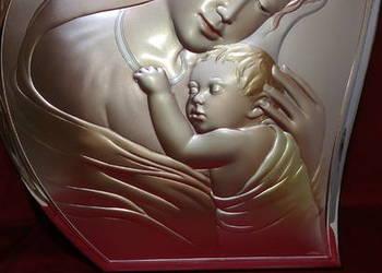 Srebrny obrazek, obraz, dewocjonalia, artykuły religijne.
