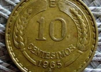 Chile 10 Centesimos 1965r---Kondor