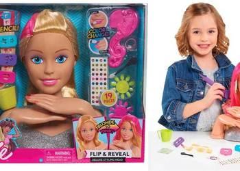 Barbie Głowa do Czesania Stylizacji Wizaż 30cm 19el Manicure