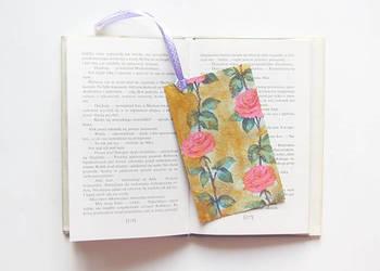 ładna zakładka do książki,ładna zakładka z różami,shabby chi