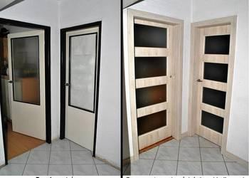 drzwi wewnętrzne z kamuflażem starych futryn