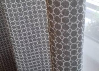 Bawełniane zasłony w kolorze szaro - białym