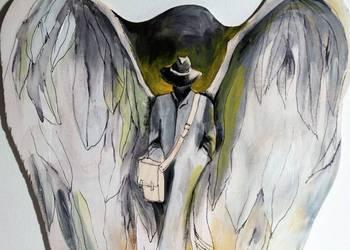 Obraz malowany na drewnie ''Anioł dobrych wiadomości''