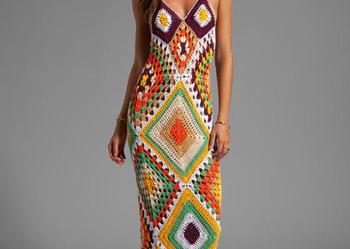 Sukienka  na szydełku na lato/na plażę,  handmade