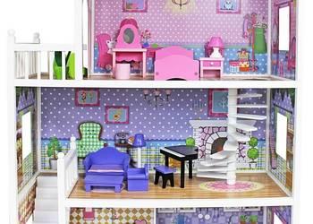 Ogromny drewniany domek 124 cm - dla lalek Barbie