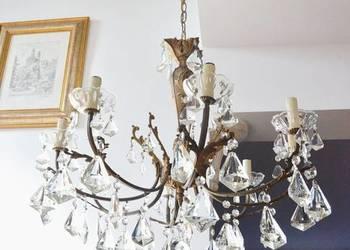 żyrandol kryształowy stylowy lampa wisząca