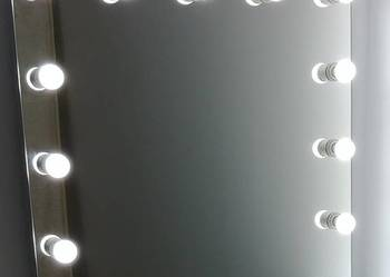 LUSTRO GLAMOUR LED MAKE UP, DO WIZAŻU Z ŻARÓWKAMI