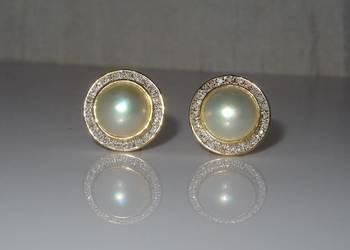 Kolczyki perły i diamenty AUSTRIA