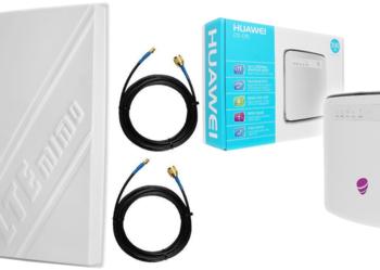 ZESTAW Router Huawei E5186 LTE bramka GSM USB ANTENA MIMO