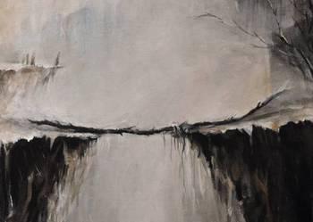 INA- abstrakcja nowoczesny duży obraz do salonu SURREALIZM