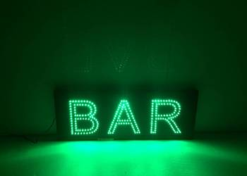LED reklama neon BAR 70x35cm