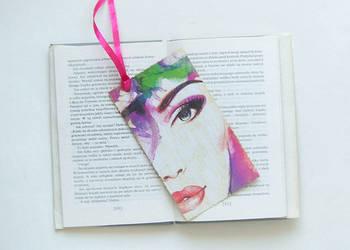 kolorowa zakładka do książki, ładna zakładka kobieta