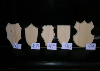Podkładka,deska pod trofeum myśliwskie 111 wzorów
