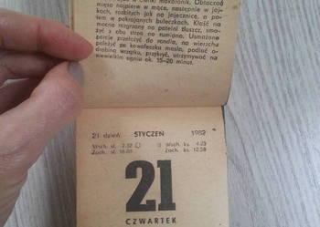 Kartka z kalendarza zdzieraka rok 1982, rok 2010